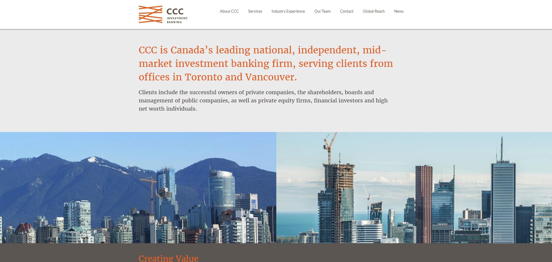 CCC Investment Bank screenshot