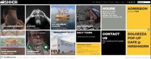 Hirshhorn Website Screenshot