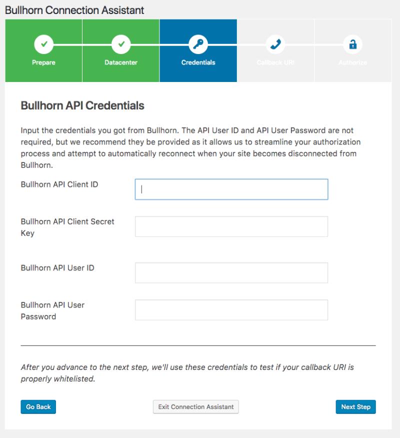 Matador Jobs - Bullhorn API Credentials Screenshot