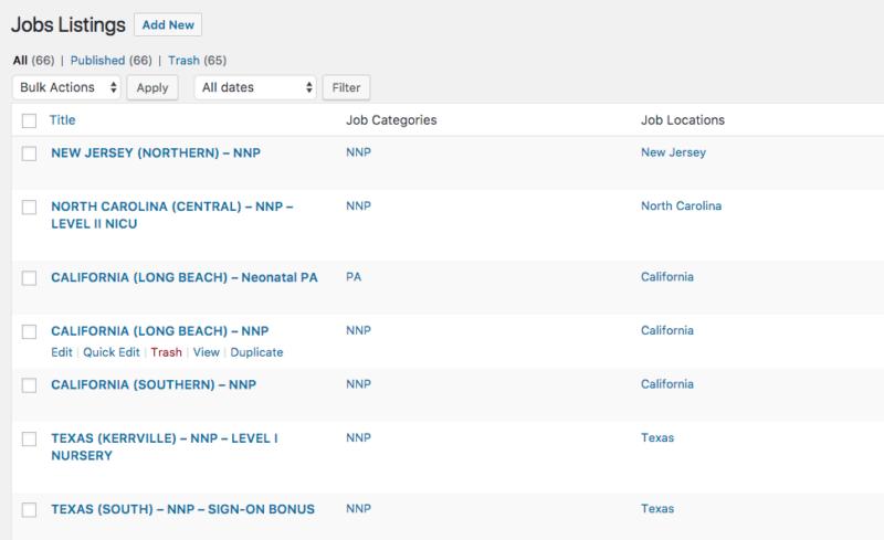 Matador Jobs - Job Listings Screenshot