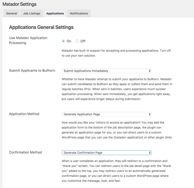 Matador Jobs - Applications Screenshot