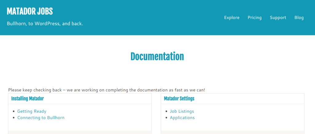 Matador Documentation