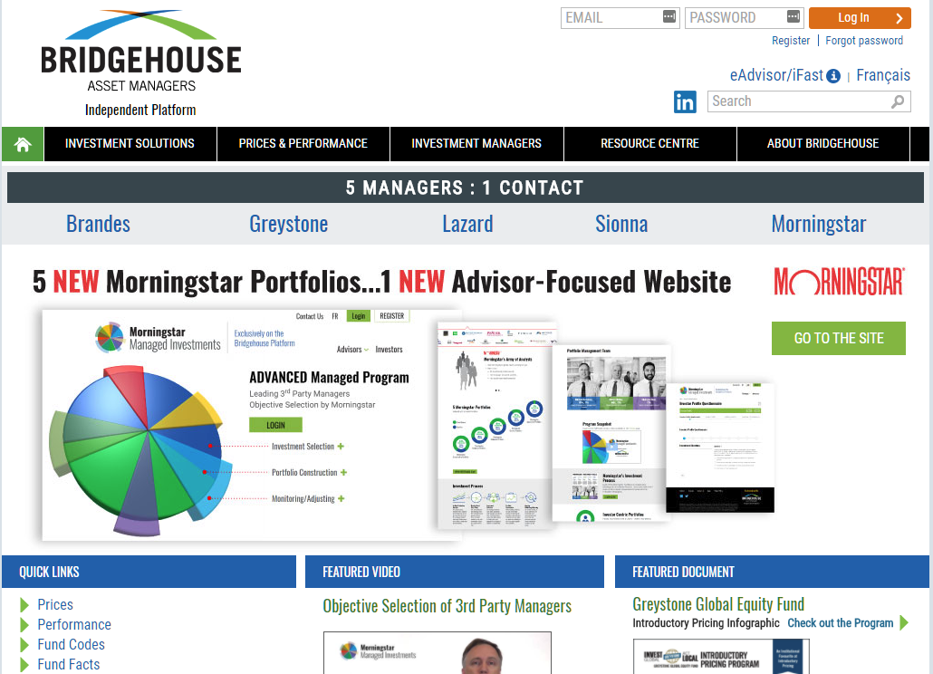 Bridgehouse Asset Managers screenshot
