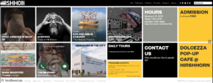 Hirshhorn Website Screenshot